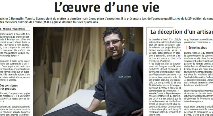 article alsace menuisier